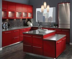 KraftMaid Red Cabinets